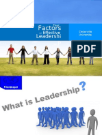 4 Factors of Leadership