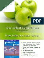 3 Traits of Good Teacher