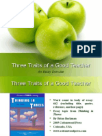 3 Traits of Good Teacher