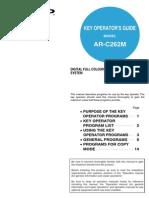 ARC262M OM KeyOperatorsGuide GB