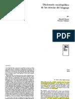 Ducrot O y TodorovTzvetan_Diccionario Enciclopedico de Las Ciencias Del Lenguaje
