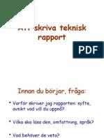 teknisk rapport mall