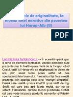 Harap - Alb (Localizarea Fantasticului, Eruditia Paremiologica)