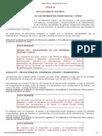 Código Tributario - Obligaciones de Terceros