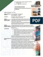 P&C P6 v 8.2 EPPM Web Book Information Sheet