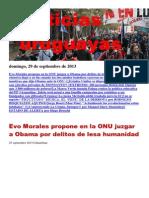 Noticias Uruguayas Domingo 29 de Setiembre Del 2013
