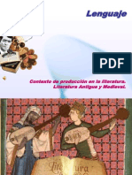 contexto historico de producción - literatura antigua y medieval