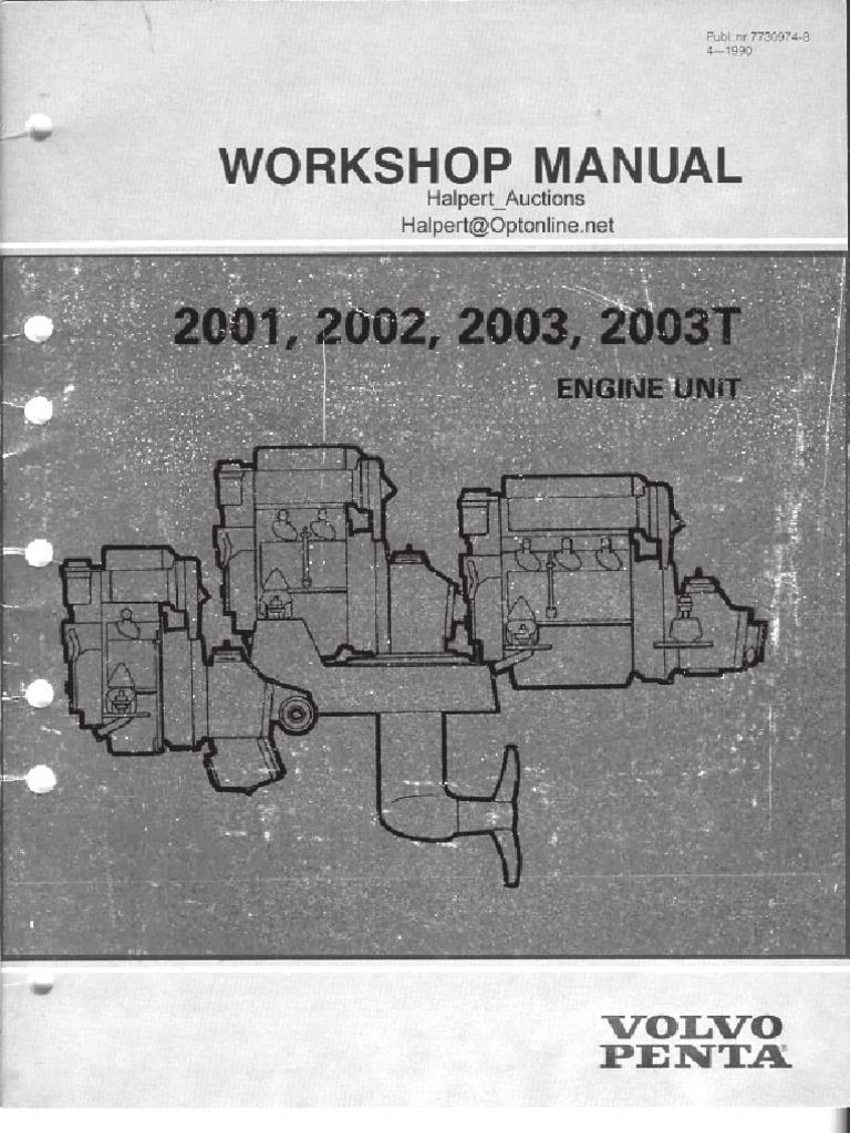 volvo penta 2001 2002 2003 mechanical engineering nature rh scribd com volvo penta 2002 service manual download Volvo Penta Boat
