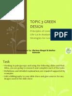 Topic 3 Green Design Student