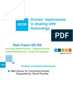 Rob Fraser - The nurse's experience with technology European Cancer Congress 2013