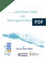Los Diferentes Alimentos y Bebidas Como Fuente de Agua en La Dieta Cotidiana_Antonio Villarino