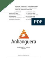 ATPS ETAPA 1,2 - MATEMÁTICA APLICADA