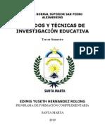Micro Metodos y Tecnicas Escuela Normal Superior San Pedro Alejandrino