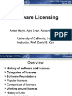 Malyk Shah Behm Open Source Licences