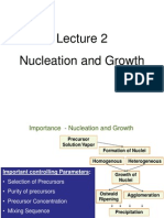 Lecture 2 - Nucleation and Growth of Nanomaterials