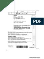 Edexcel C3 (June 2008) (Question Paper)