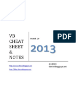 visual basic cheat sheet