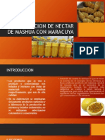Elaboracion de Nectar de Mashua Con Maracuya
