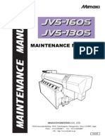 mimaki JV5 Maintenance Manual