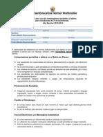 Acuerdo Para Uso de Computadoras Portatiles Para Alumnos
