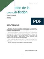 30938512 Capanna Pablo El Sentido de La Ciencia Ficcion