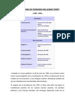 2do Gobierno de Fernando Belaunde Terry