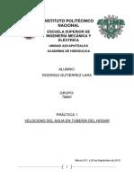 Practica 1 (Maquinas Hidraulicas)