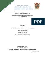 Asesoria Academica a La Escuela (Miguel)