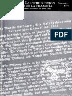 Faye Emmanuel - Heidegger La Introduccion Del Nazismo en La Filosofia