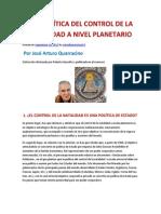 GEOPOLÍTICA DEL CONTROL DE LA NATALIDAD A NIVEL- José Arturo Quarracino