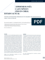 [Estudio de epidemiología psiquiátrica en niños y adolescentes en Chile. Estado actual -