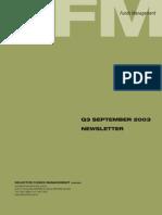 selector september 2003 quarterly newsletter