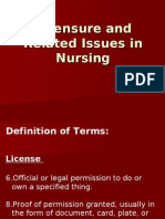 Licensure and Related Issues in Nursing