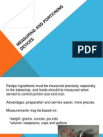 Measuring and Portioning Devices