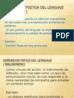 Dimension Poetica Del Lenguaje ( Jakobson )