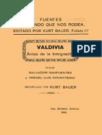 Valdivia antes de la inmigración