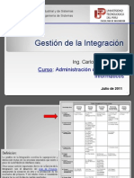 1ra Expo La Gestion de Integracion
