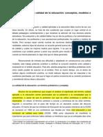 """•TIANA, A. (1999) """"La evaluación de la calidad de la educación conceptos, modelos e instrumentos""""."""
