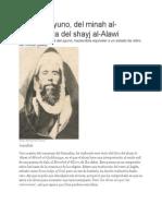 Sobre El Ayuno, Del Minah Al-Quddusiyya Del Shayj Al-Alawi