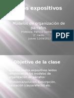 Textos expositivos modelos de organización clase