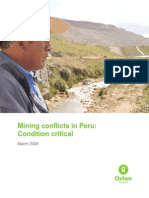 Oxfam (2009) Mining Conflicts in Peru, Condition-Critical