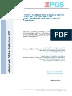 FUNDEF PARTICIPAÇÃO SOCIAL E GESTÃO DEMOCRÁTICA OU CONSELHO GOVERNAMENTAL COM PARTICIPAÇÃO TUTELADA