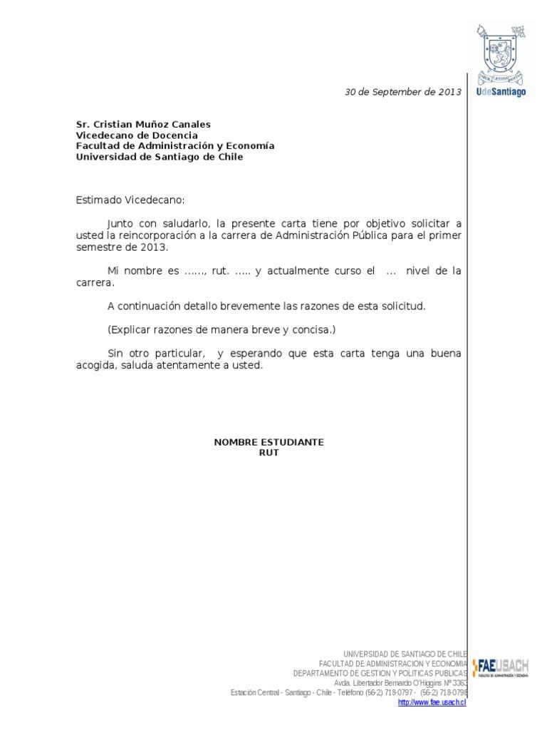 Único Muestra De Solicitud De Ingreso A La Universidad Ilustración ...