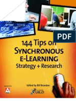 144 Tips on Synchronous e-Learning Strategy + Research