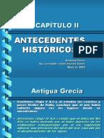 CAPÍTULO II Antecedentes Históricos