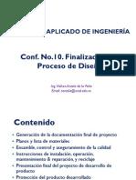 Conf No10 Finalización del Proceso de Diseño