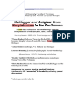 Heidegger and Religion From Neoplatonism to the Posthuman