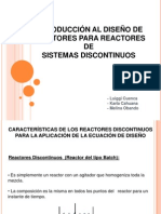 6. Diseno de Reactores en Sistemas Discontinuos