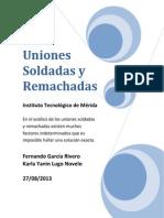 Uniones Soldadas y Remachadas