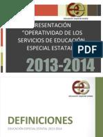 """PRESENTACIÃ""""N_OPERATIVIDAD DE LOS SERVICIOS DE EDUCACIÃ""""N ESPECIAL ESTATAL"""